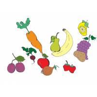Disegno di Frutta e Verdura a colori