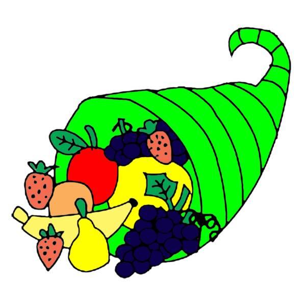 Disegno di cesto di frutta a colori per bambini for Cesto di frutta disegno