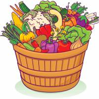 Disegno di Cesto di Ortaggi e Verdure a colori