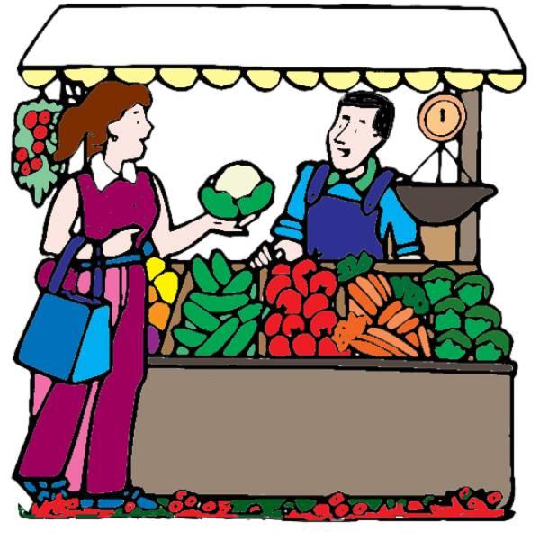 Disegno di banco di frutta a colori per bambini - Immagini di marmellata di animali a colori ...