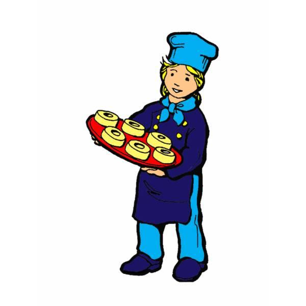 Disegno di Cuoco Pasticcere a colori