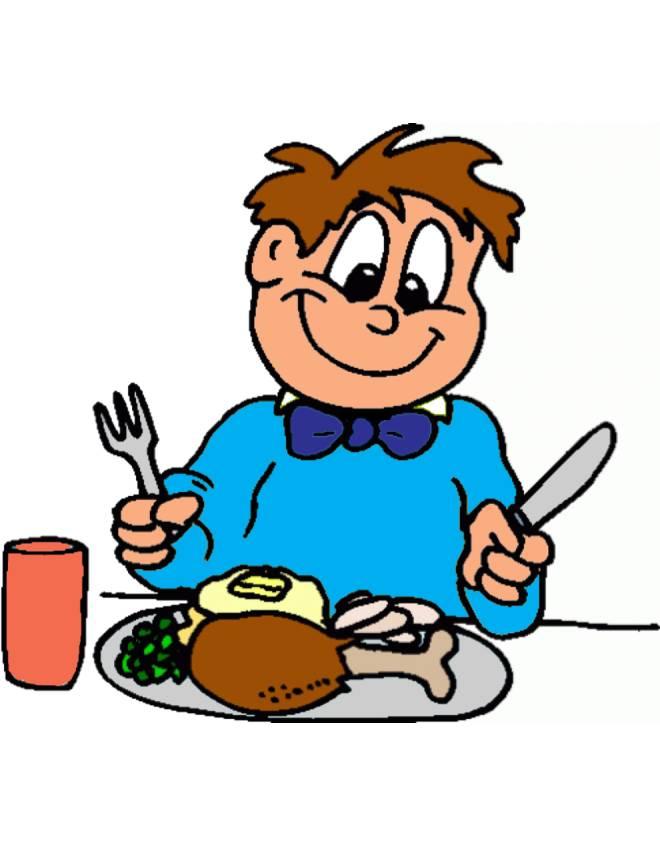 Disegno di buon appetito a colori per bambini