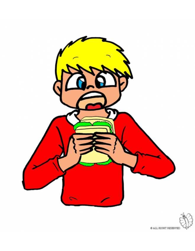 Disegno di bambino che mangia a colori per bambini - Immagini di cicogne che portano bambini ...