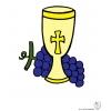 Disegno di Calice e Uva a colori
