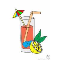Disegno di Cocktail  a colori