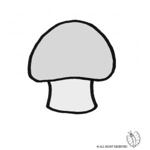 Disegno di fungo a colori per bambini gratis for Fungo da colorare per bambini