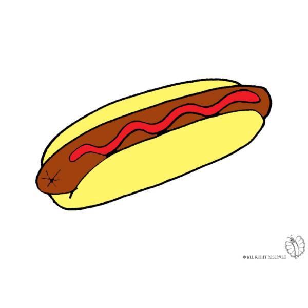 Disegno di Hot Dog a colori