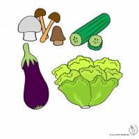 Disegno di Ortaggi e Verdure a colori