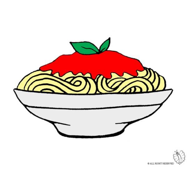 Disegno di Piatto di Spaghetti a colori