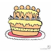Disegno di Torta Gigante a colori