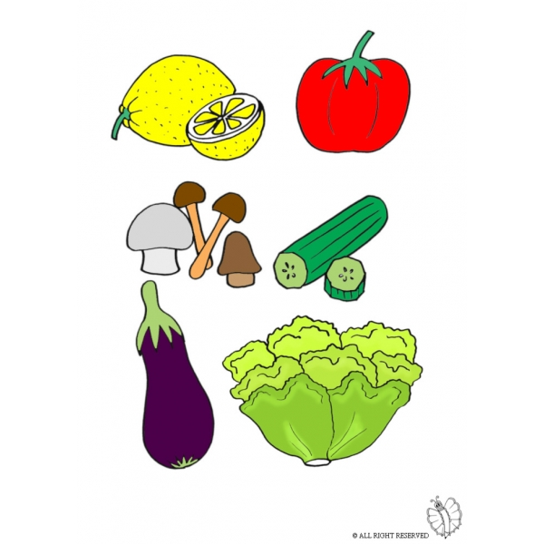Disegno di Vegetali a colori