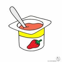 Disegno di Yogurt a Fragola a colori