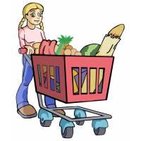Disegno di Spesa al Supermercato a colori