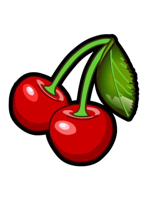 Stampa disegno di ciliege a colori for Disegni da colorare ciliegie