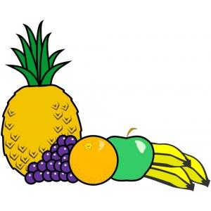 Disegno di frutta mista a colori per bambini gratis for Cesto di frutta disegno