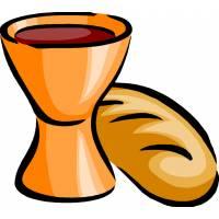 Disegno di Pane e Vino a colori