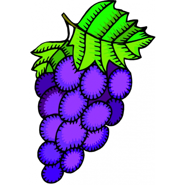Disegno di Uva a colori