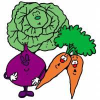 Disegno di Vegetali Animati a colori