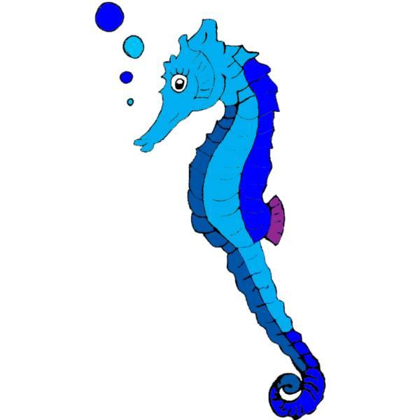 Disegno di cavalluccio di mare a colori per bambini for Immagini di mare da colorare