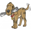 disegno di Il Cane col Giornale a colori