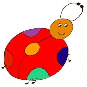 Disegno di Coccinella a colori