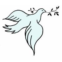 Disegno di Colomba della Pace a colori