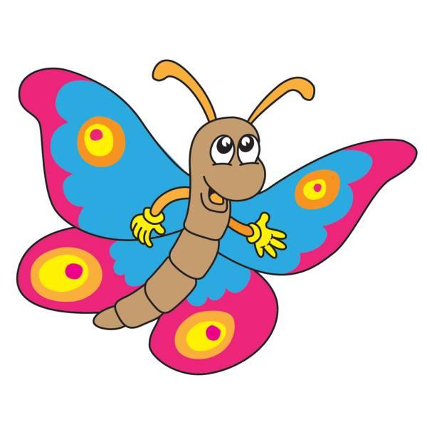 Disegno Di Happy Butterfly A Colori Per Bambini