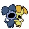 disegno di Cuccioli di Cane Affettuosi a colori