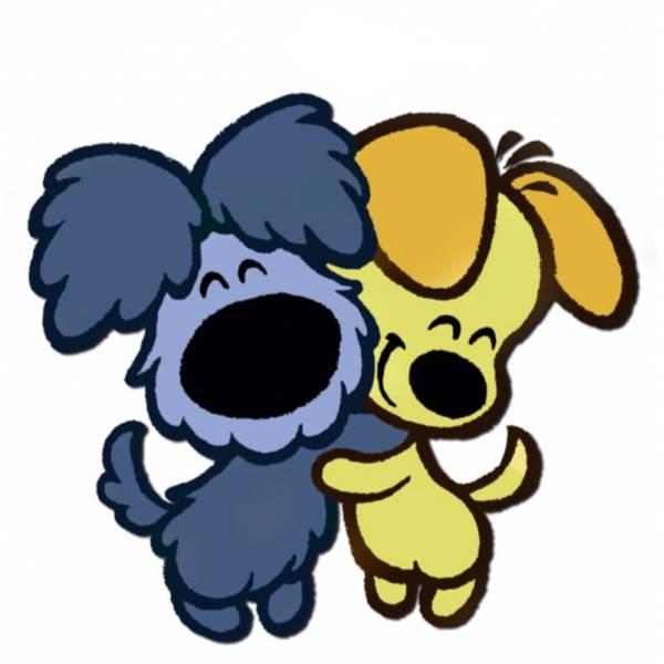 Disegno Di Cuccioli Di Cane Affettuosi A Colori Per Bambini