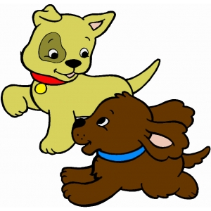 Disegno di Cuccioli di Cane a colori
