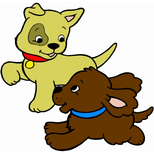 Disegno di cuccioli di cane a colori per bambini for Cani e gatti da stampare e colorare