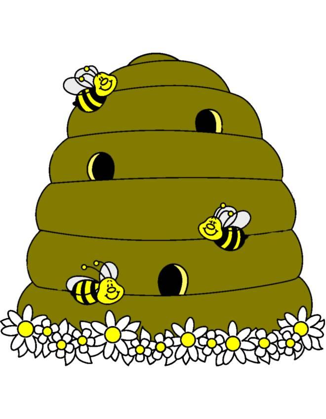 Disegno di alveare a colori per bambini for Immagini api per bambini
