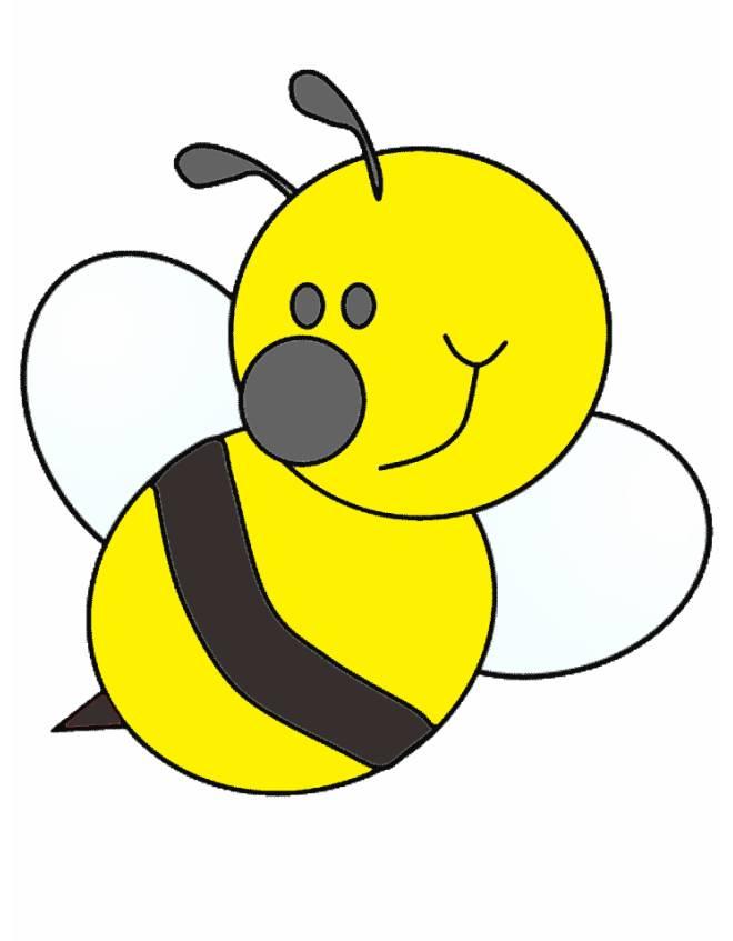 disegno di ape a colori per bambini