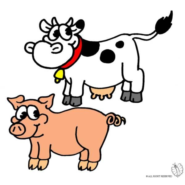 Disegno di Animali della Fattoria a colori