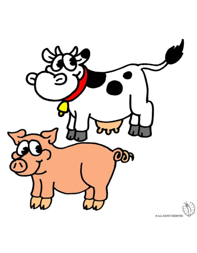 Disegno di animali della fattoria a colori per bambini for Disegno della fattoria americana