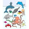 disegno di Animali del Mare a colori