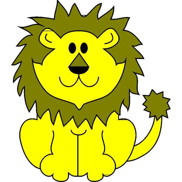 Disegno di Il Leone a colori