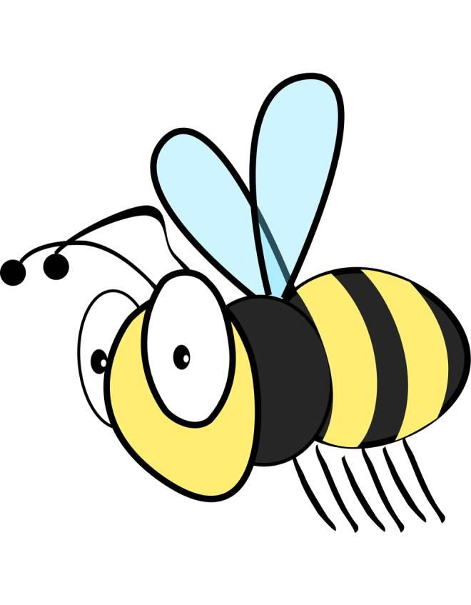 Disegno di l 39 ape a colori per bambini for Immagini api per bambini