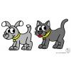 disegno di Cane e Gatto a colori