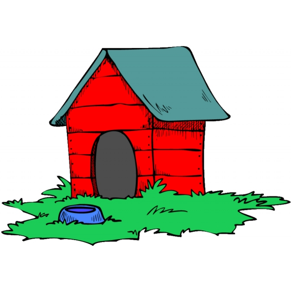 Disegno di casa del cane a colori per bambini for Disegno casa bambini