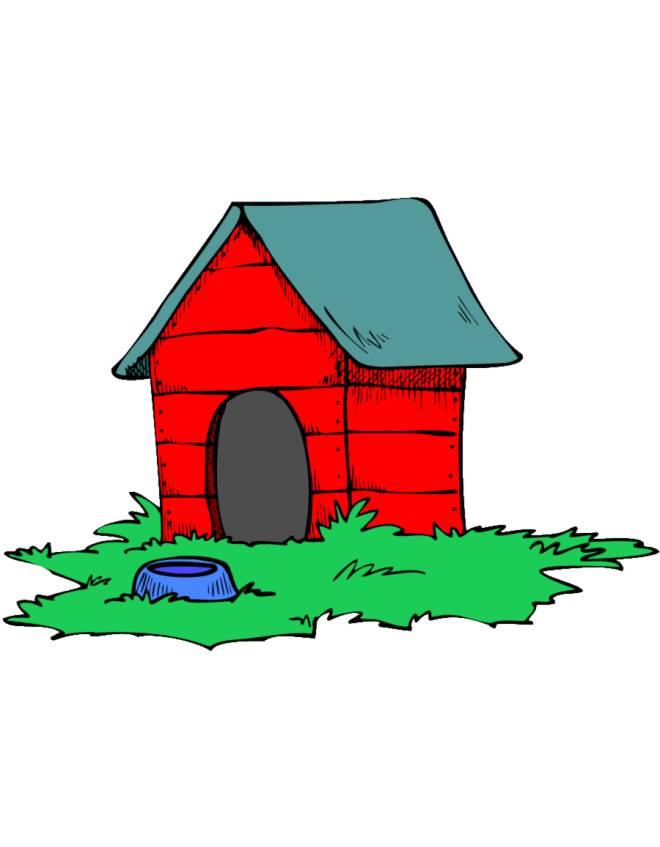Stampa disegno di casa del cane a colori for Casa progetta il trotto del cane