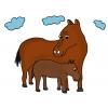 disegno di Cavalli a colori