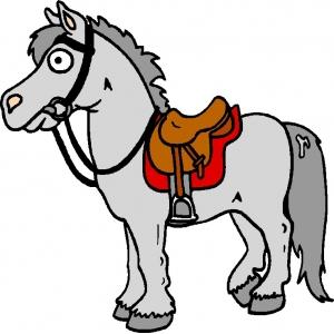 disegno di cavallo a colori per bambini gratis