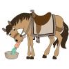 disegno di Il Cavallo e la Carota a colori