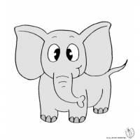 Disegno di Elefante a colori