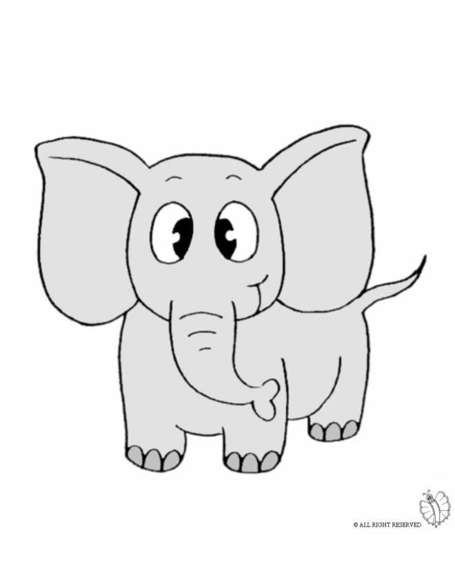 Disegno Di Elefante A Colori Per Bambini Disegnidacolorareonline Com
