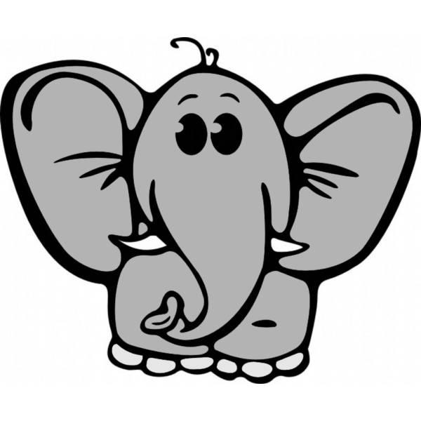 Disegno di Elefantino a colori