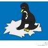 disegno di Famiglia di Pinguini a colori