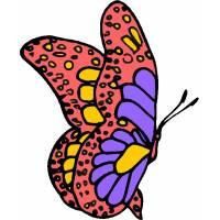 Disegno di Farfalla Fantasy a colori