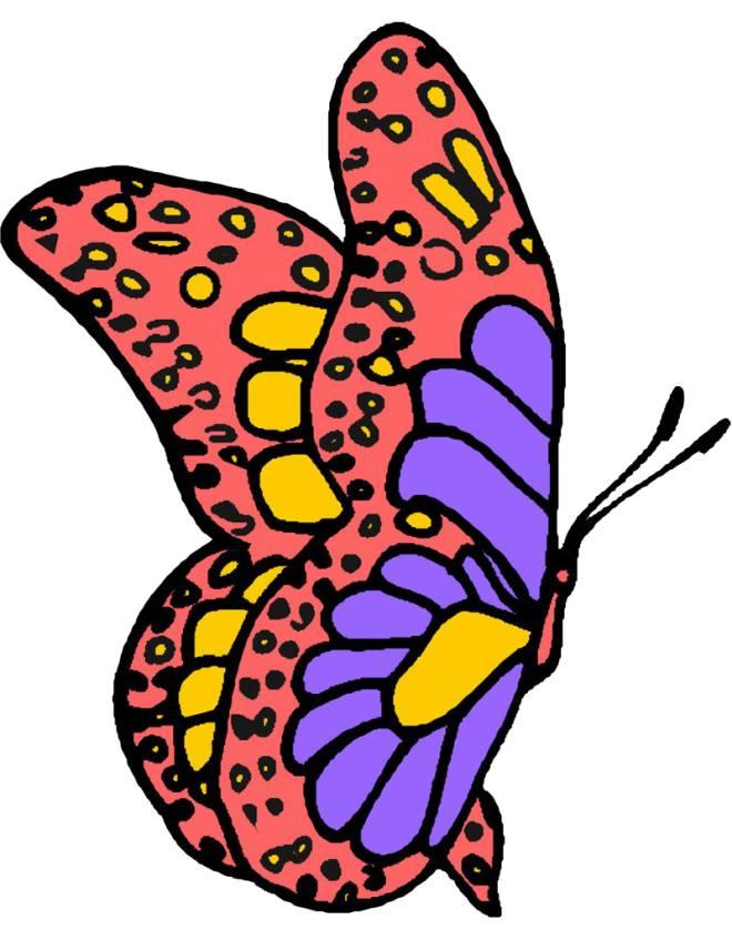 Disegno di farfalla fantasy a colori per bambini - Immagini di farfalle a colori ...